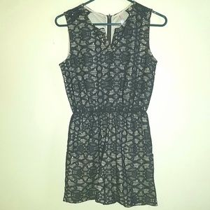 Xhilaration black lace romper